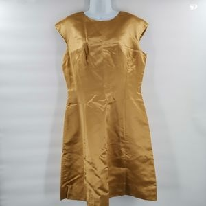 Vintage 1960s Honey Gold Dress